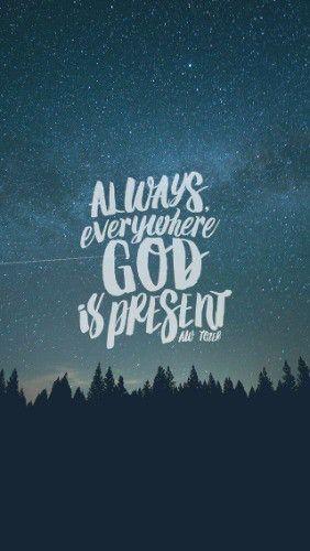 Sempre em todos os lugares Deus está presente