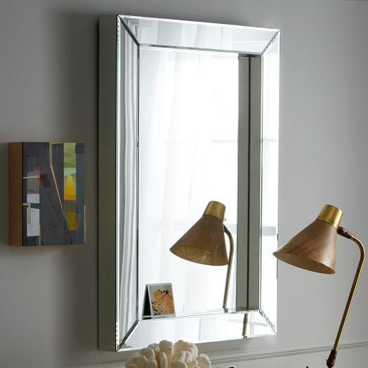 Reg Price 299 Special 224 For Sophia S Bath Parsons Wall Mirror Mirrored West Elm Mirror Wall Mirror Wall Living Room Mirror Wall Bedroom