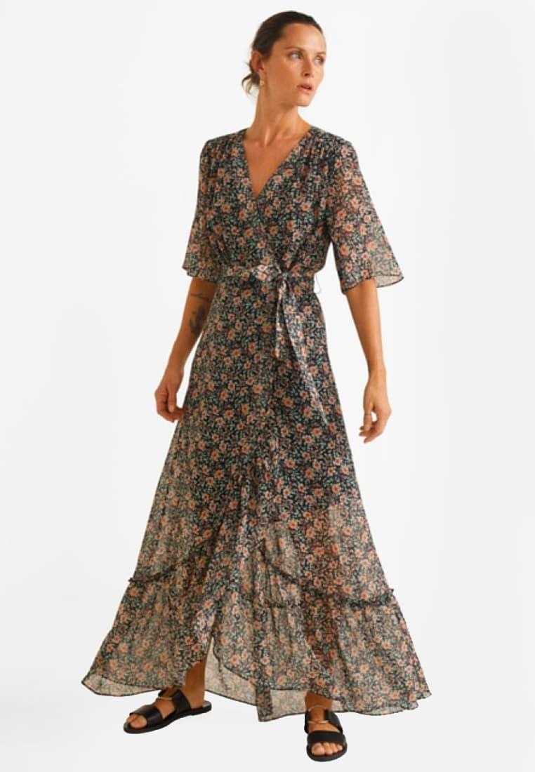 robe mango longue a fleurs