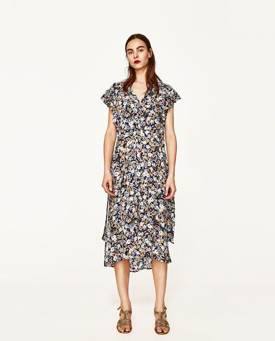 3c3fc06d413 Robe portefeuille fleurie zara – Modèles populaires de robes