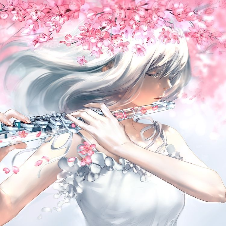Petals Fall In 2020 Anime Art Fantasy Anime Art Girl Anime Music