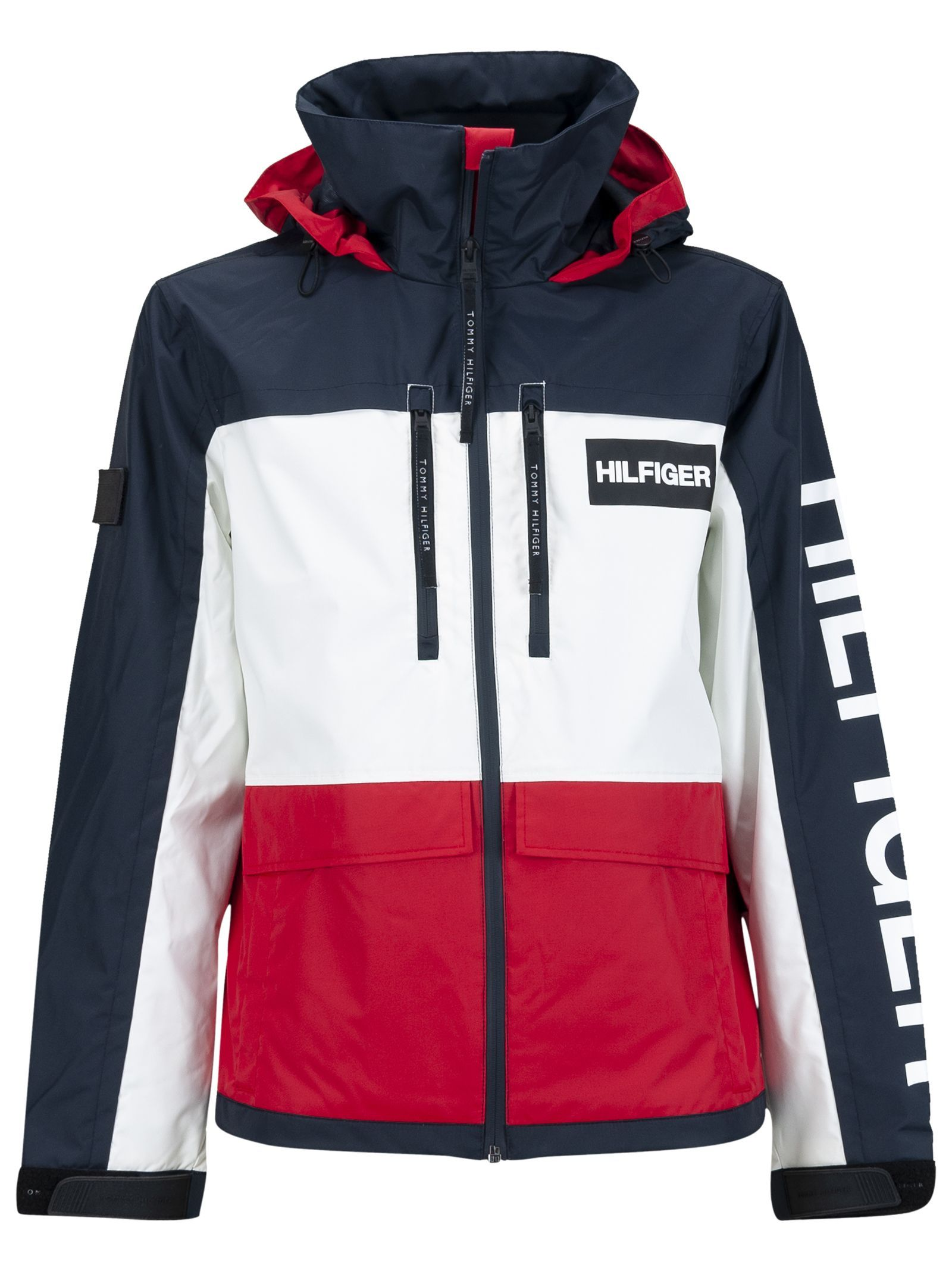 Tommy Hilfiger Color Block Jacket With Hood In Blu Bianco Rosso Modesens Color Block Jacket Hooded Jacket Hilfiger [ 2136 x 1600 Pixel ]