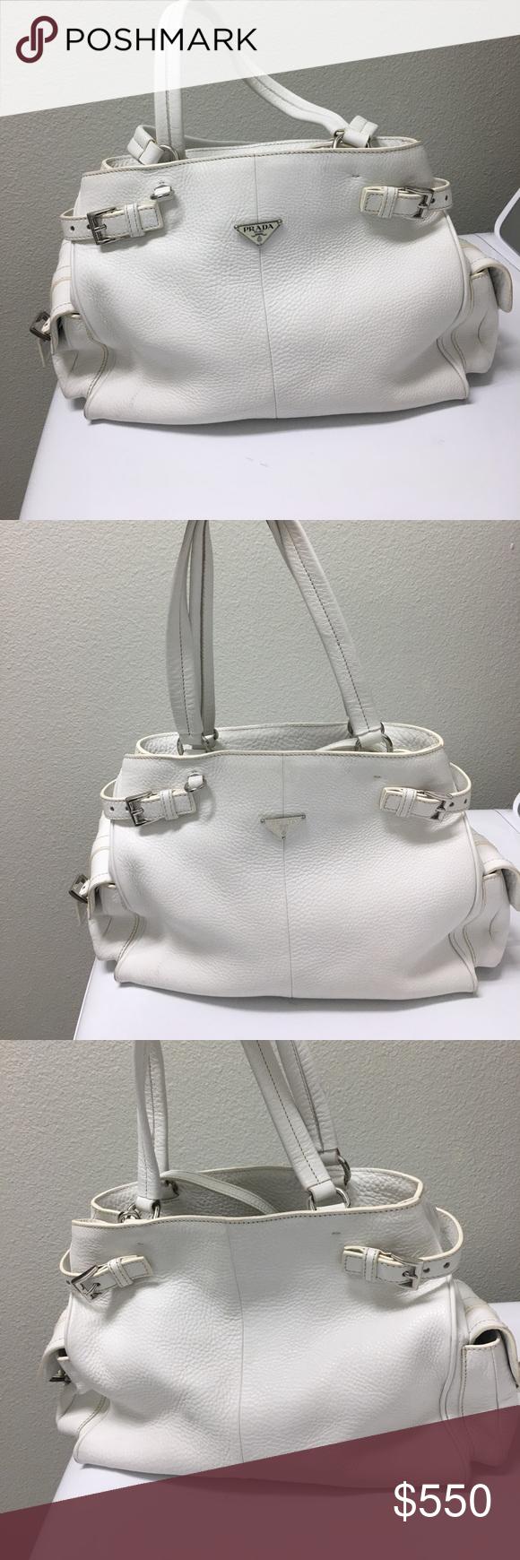 bce46c2904f2 ⚡ ⚡️Flash Sale 8pm-9pm Authentic Prada Bag White Prada Bag approximately 12W