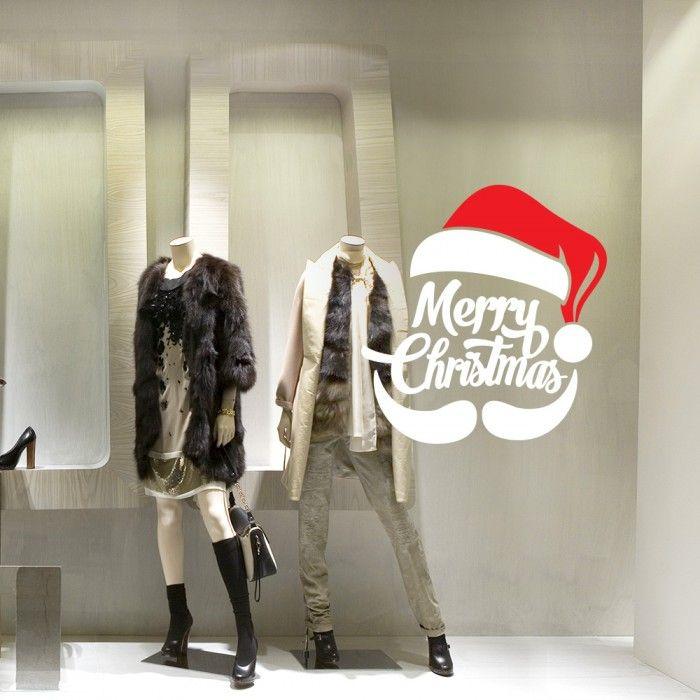 "Vetrofania ""Baffi Merry Christmas""     http://www.adesivimurali.com/natale-vetrinistica/NT0377-baffi-merry-christmas"