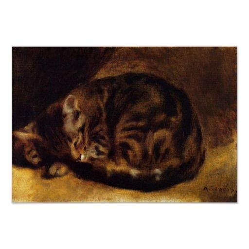Renoir Sleeping Cat Poster