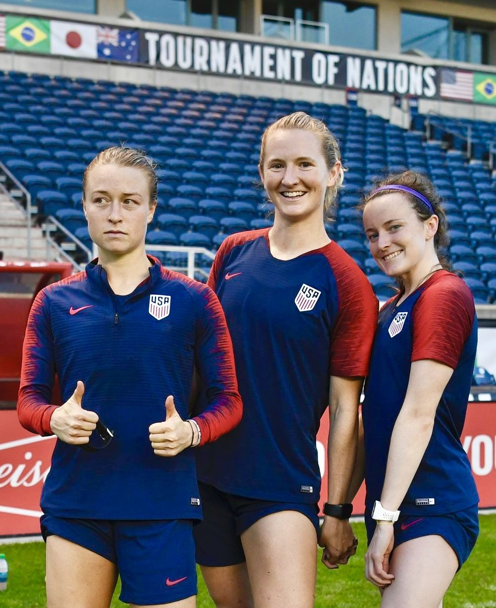 Emily Sonnett, Sam Mewis and Rose Lavelle, USWNT | AA Pro
