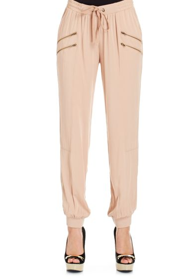 Gorgeous drawstring pants. Smocked ankles. Style with sexy heels for an alternative to skinny jeans!!!!!!!