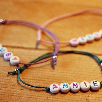 Children's Personalised Friendship Name Bracelet | GWAG
