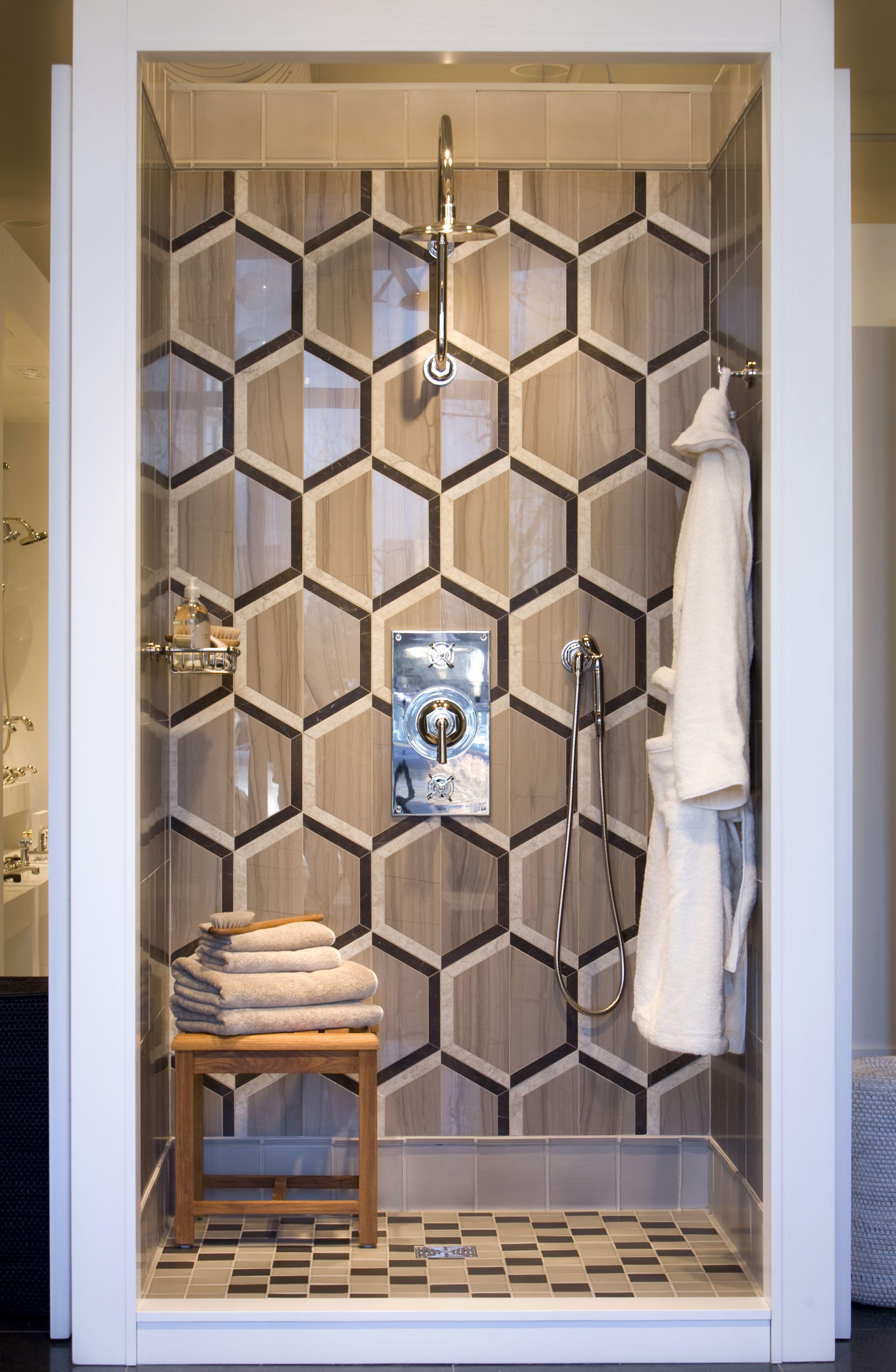 Waterworks Tile Wall  Bathroom Off Study?