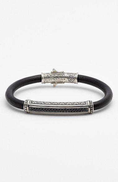 Konstantino 'Plato' Leather Bracelet
