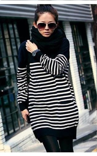 Vogue Women's Long Sleeve Striped Pullover Sweater on BuyTrends.com, only price $14.70