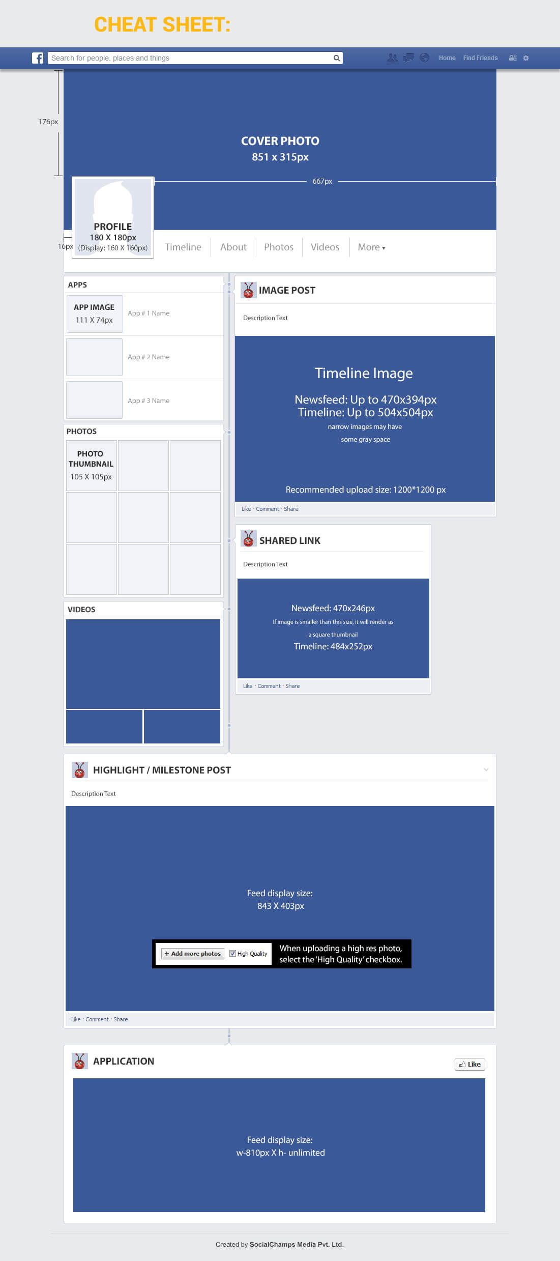 Facebook Page Dimensions Resume design template