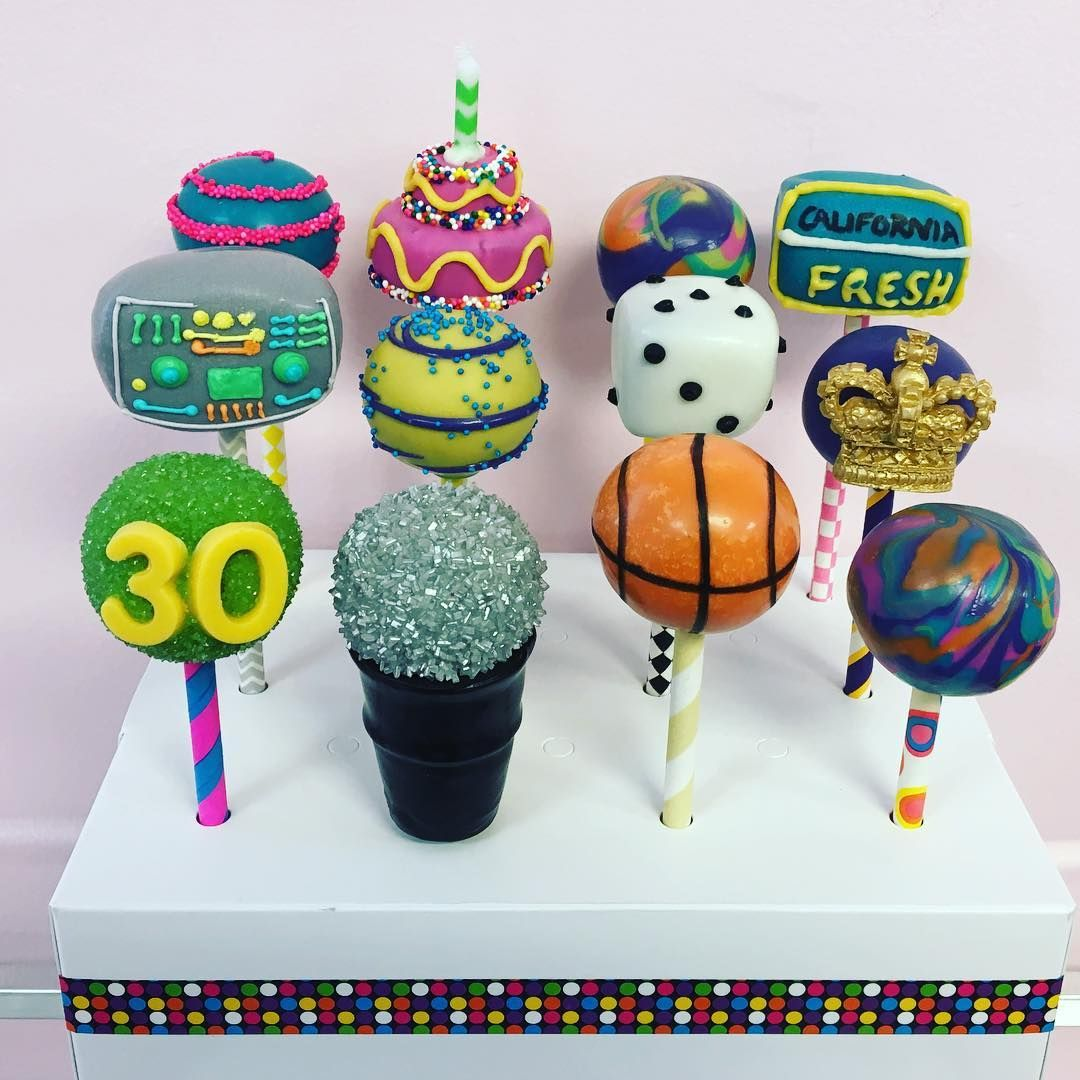 Fresh Prince of Bel Air inspired birthday cake pops by ...