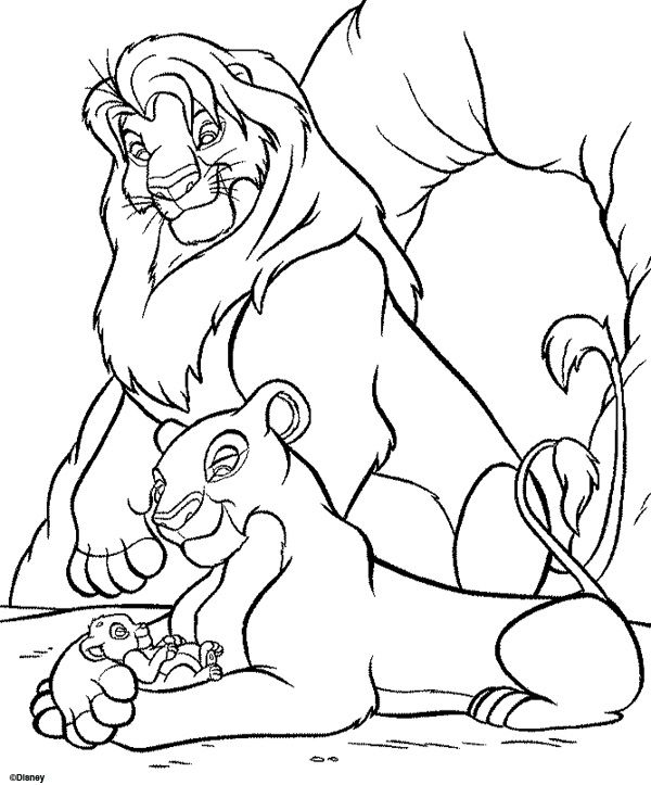 The Lion King Coloring Pages Printable http://freecoloring-pages.org ...