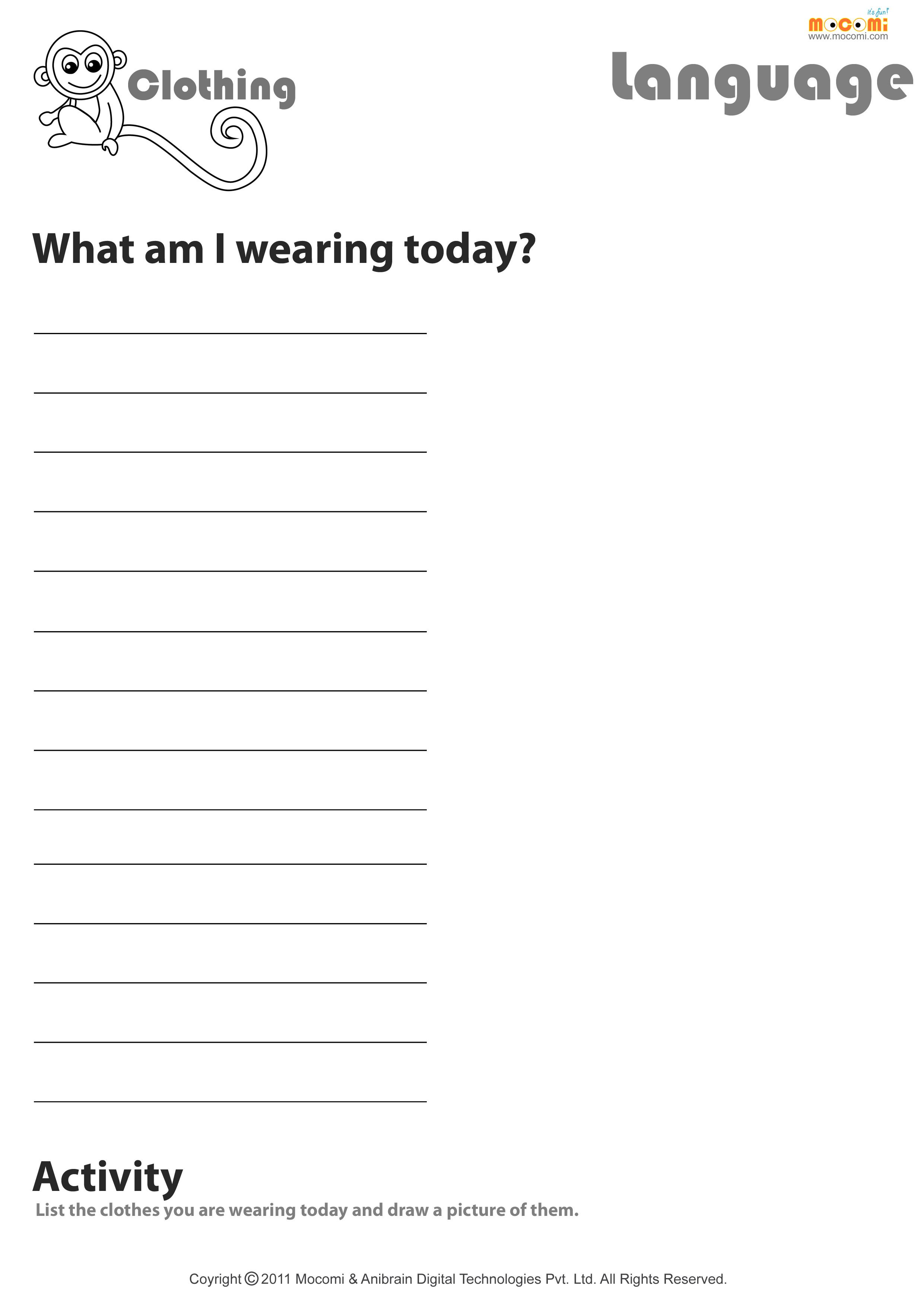 Uncategorized Super Scientists Worksheet what are you wearing today english worksheet for kids coisas kids