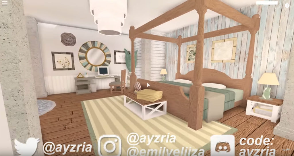 Pin By Victoria On Bloxburg | House Decorating Ideas Apartments, Tiny House Bedroom, Home Building Design