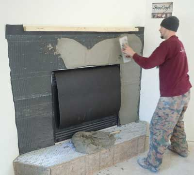 installing stone veneers learn how to install stone veneer on walls fireplace more - Stone Cladding Fireplace