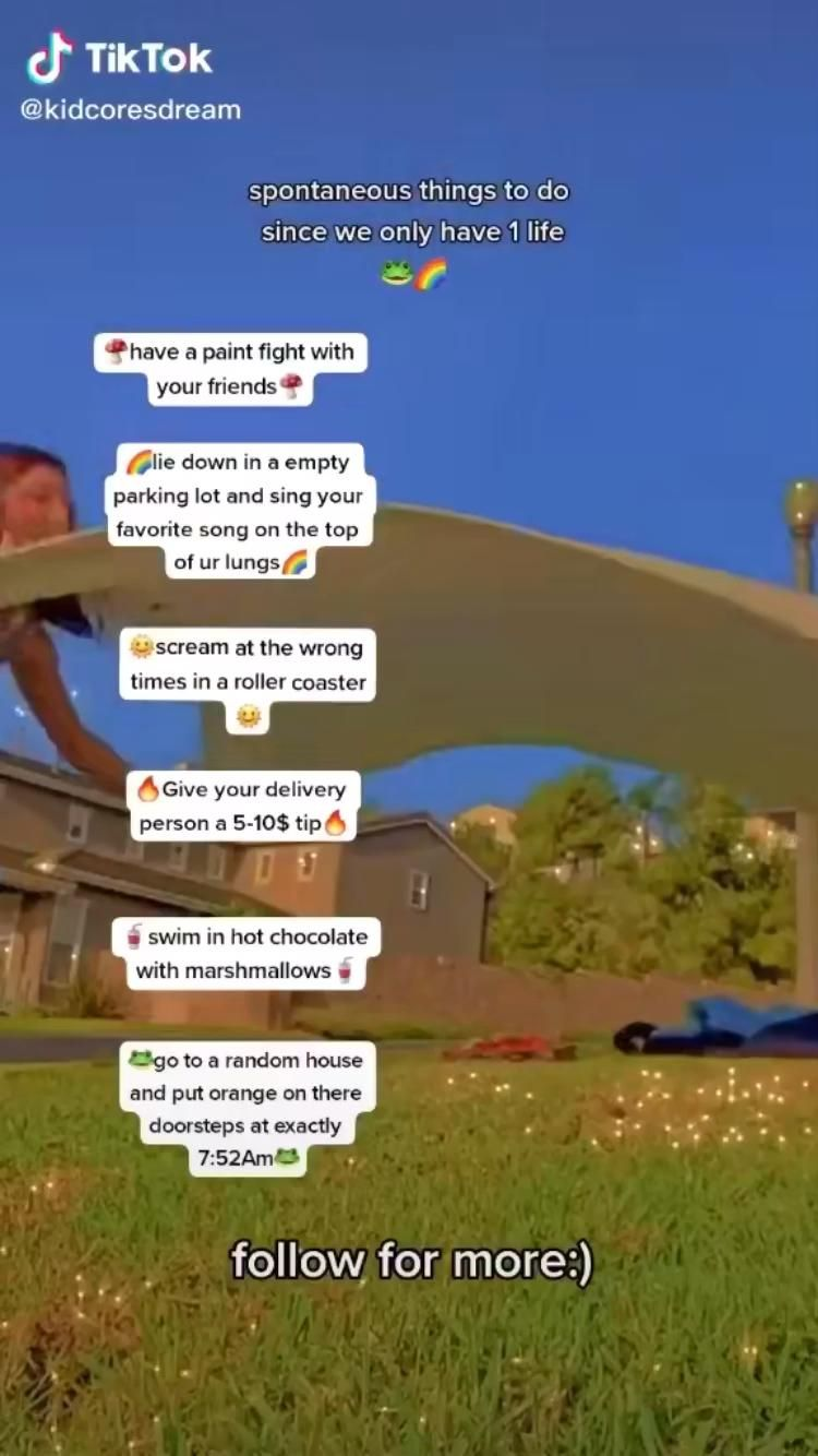 Pin By Blabla On Tik Tok Video In 2021 Crazy Things To Do With Friends What To Do When Bored Boredom Cure