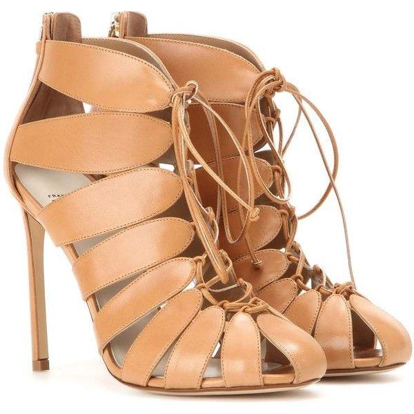 Cutout Leather Sandals - Beige Francesco Russo Q3sphQkZ