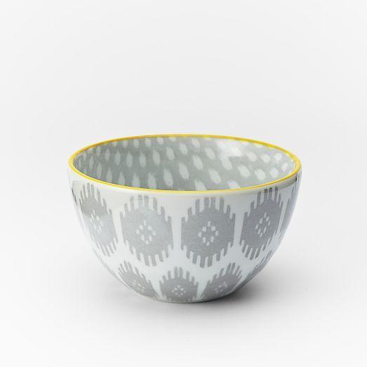 Ikat Pad Printed Bowls
