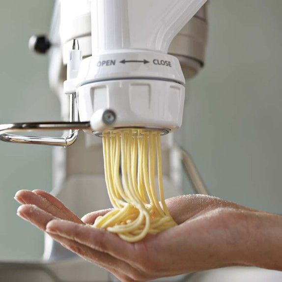Kitchen Aid Pasta Press Attachment Makes 6 Styles Of Fancy Pastas It S Easy To Do From Scratch Just Need This And A