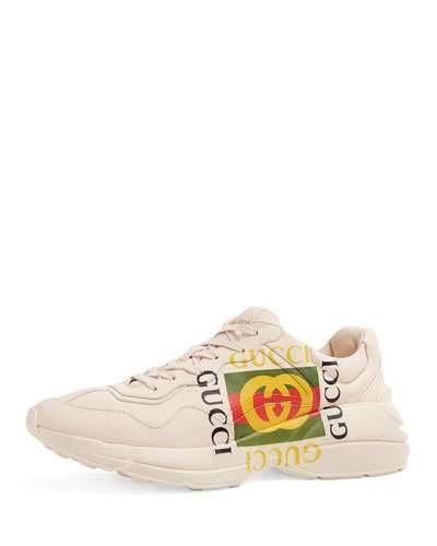 a80e1618622 GUCCI GARA LOGO TRAINER SNEAKER.  gucci  shoes
