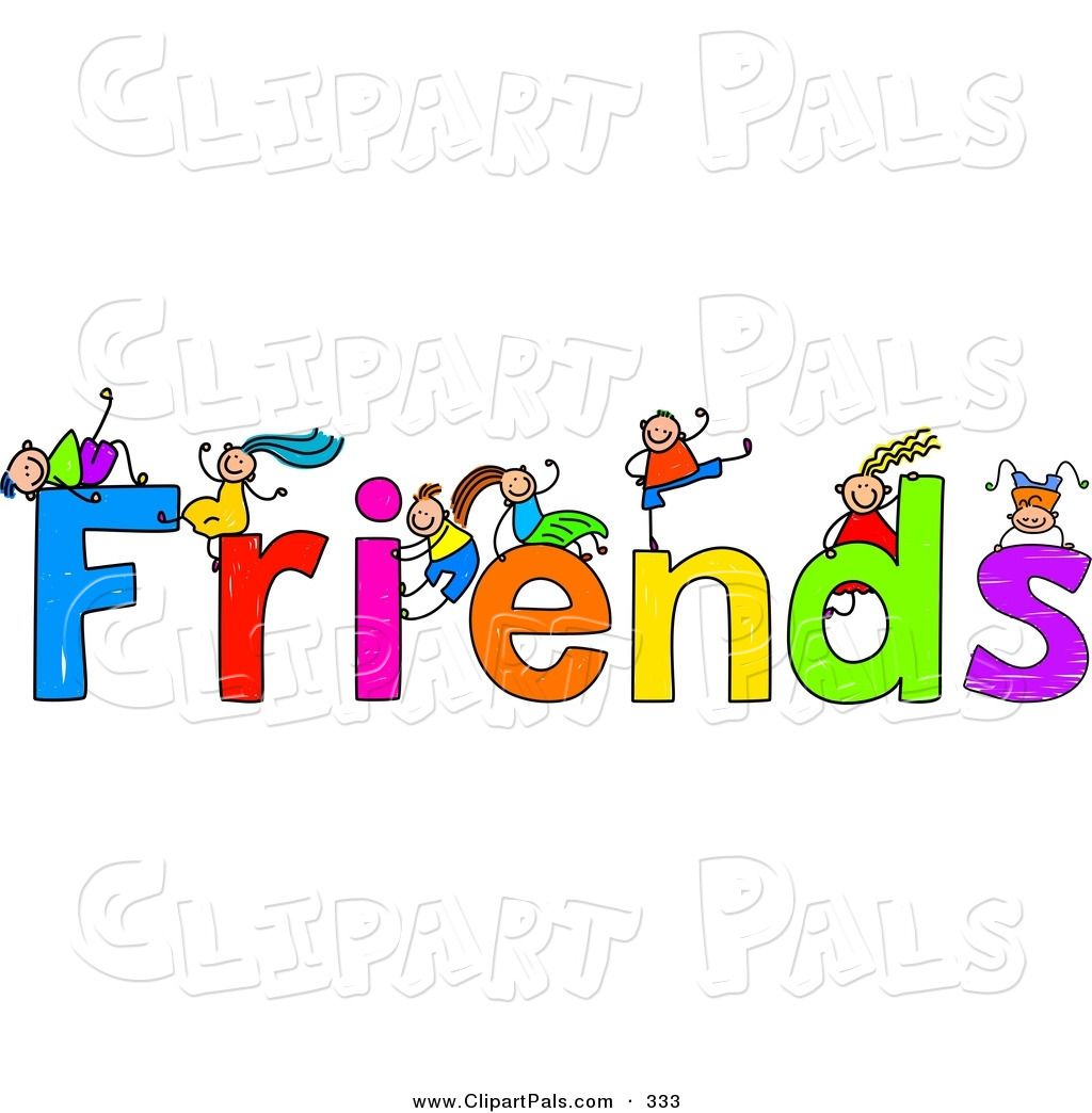 free friendship clip art pal clipart of a children with friends text on white by prawny 333 [ 1024 x 1044 Pixel ]