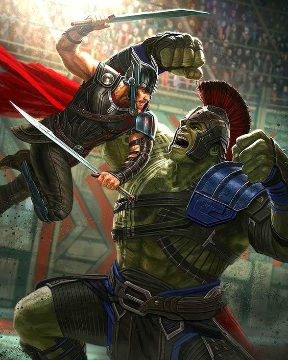 Marvel Comic Book Artwork • Thor Ragnarok movie concept art. Follow us for more awesome comic art, or check out our online store www.7ate9comics.com
