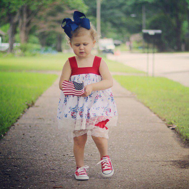 NEDC baby Leyton looking very patriotic.