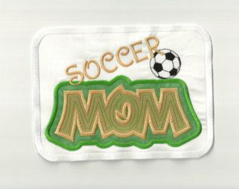 Soccer Mom Patch, Any Color Combo!