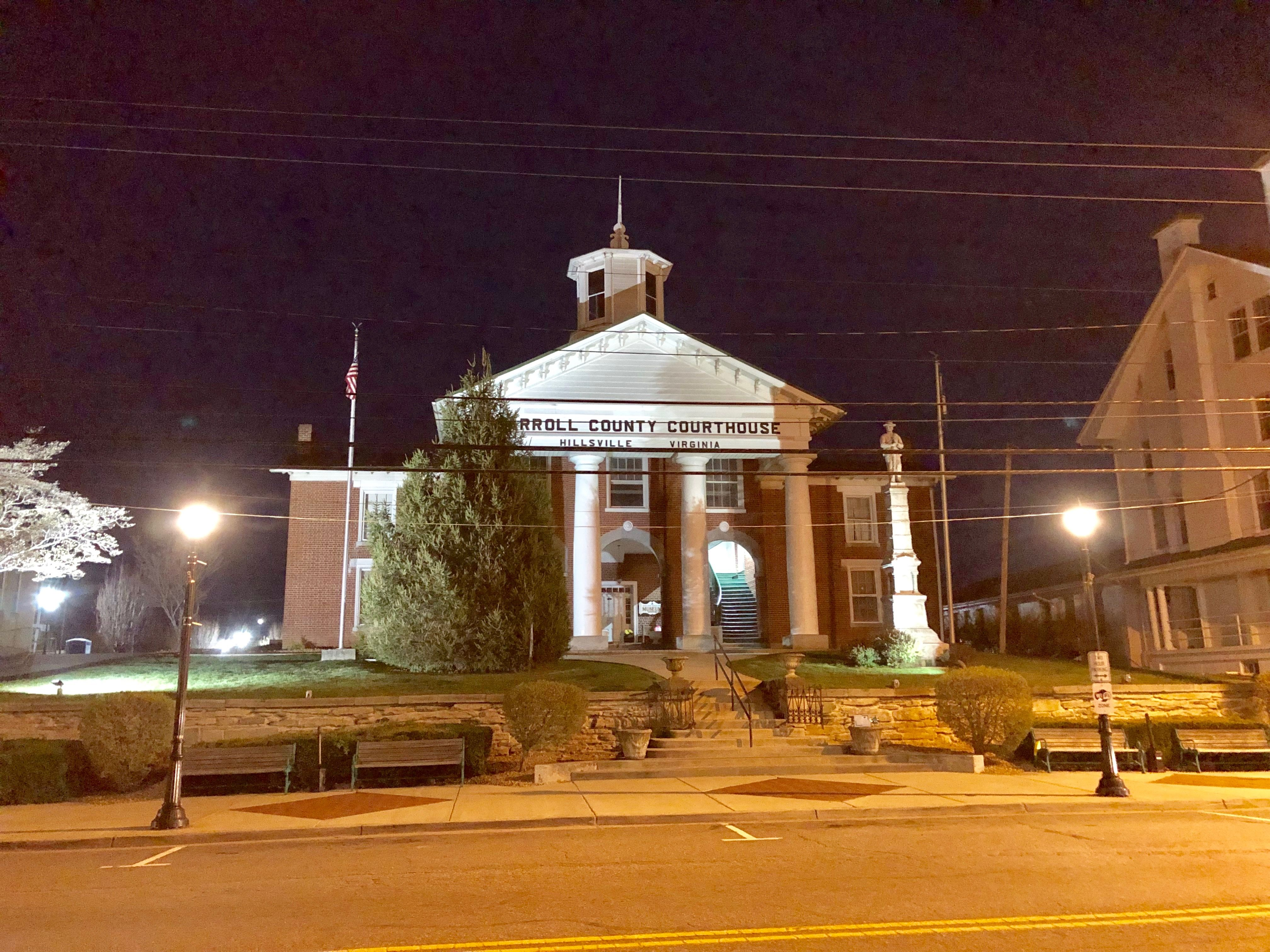 Historic Carroll County Courthouse in Hillsville, Virginia