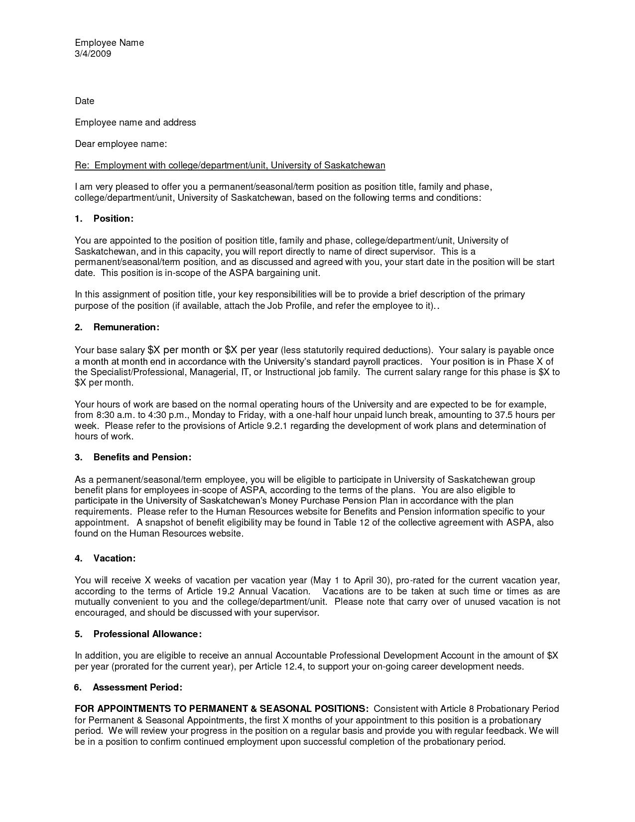Job Offer Document Template Job offer, Confirmation