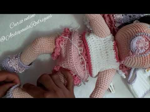 Boneca Bia Articulada - Amigurumi Crochê no Elo7 | Mi Artesanatos ... | 360x480