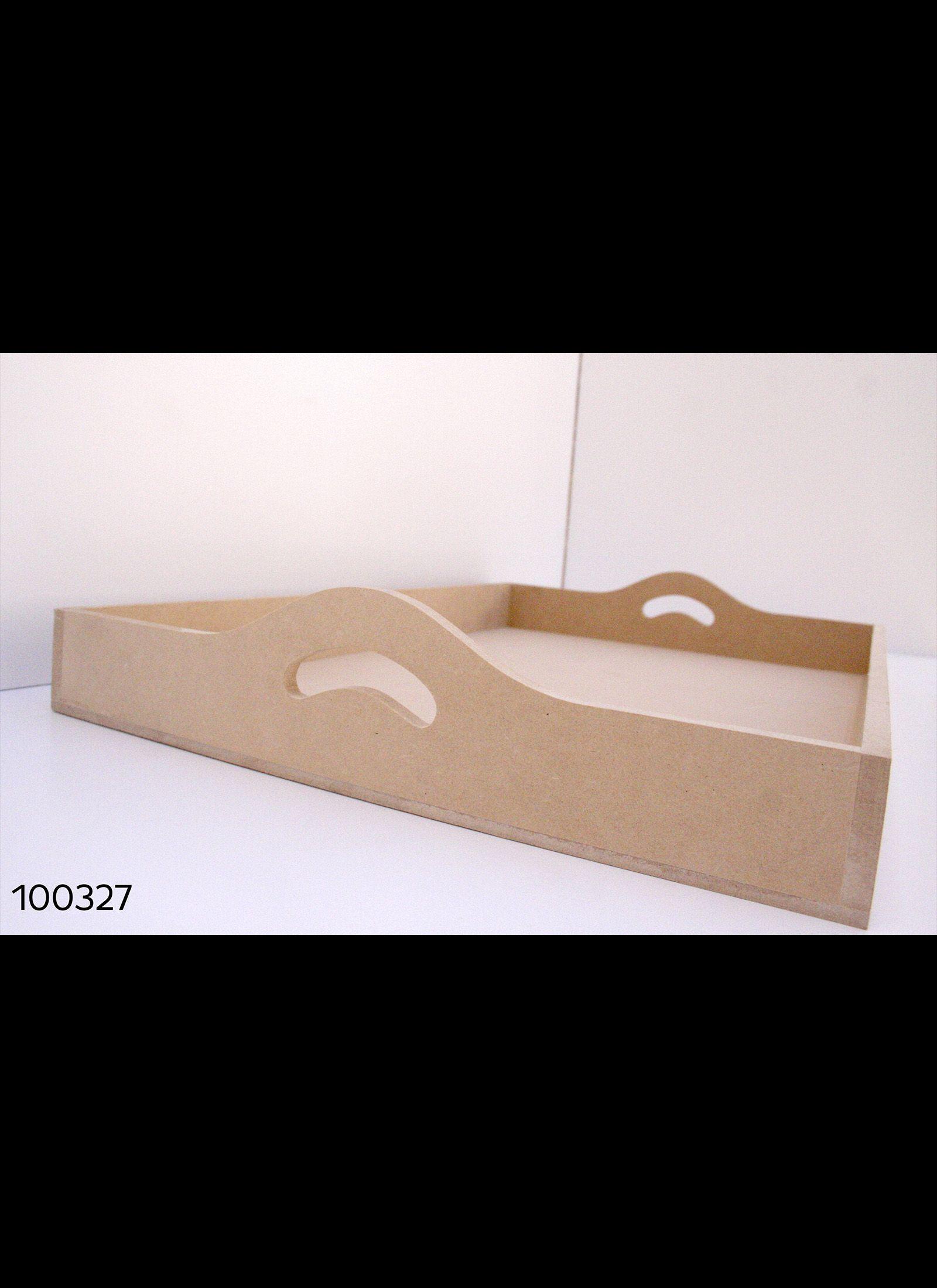 BANDEJA MDF BORDE RECTO 40 X 60cm. Espesor 9MM Cod. 100327