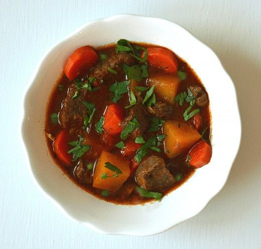 Beef Stew with Root Vegetables Herbs and Wine Recipe