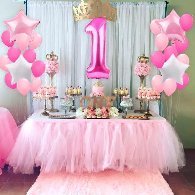 Fengrise 1 Er Cumpleaños I Am One Paper Banner Azul Rosa Feliz Cumpl Decoracion Primer Cumpleaños Niña Decoracion De Fiesta Princesa Decoracion Cumpleaños Niña