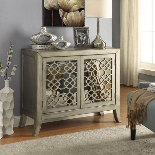 Accent Cabinets Antique Wooden And Metal Accent Cabinet With 2
