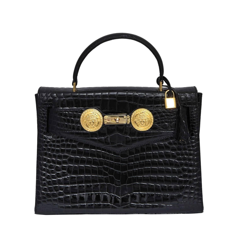 Bag · Gianni Versace Croc Embossed ...