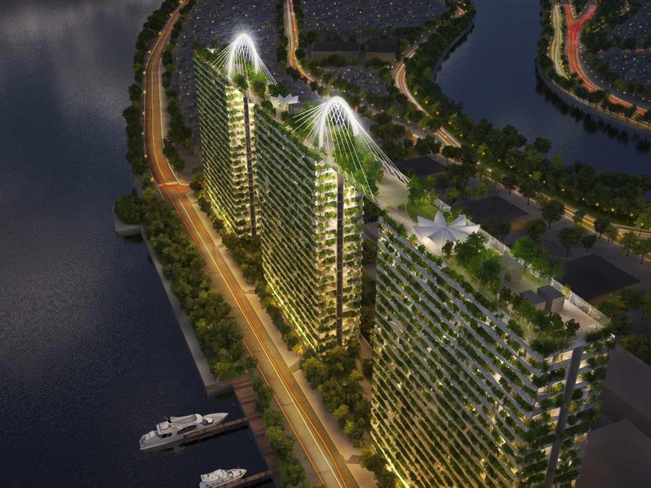 Na cidade de Ho Chi Minh - a maior cidade e principal centro financeiro, corporativo e mercantil do Vietnã, o escritório Vo Trong Nghia Architects divulgou
