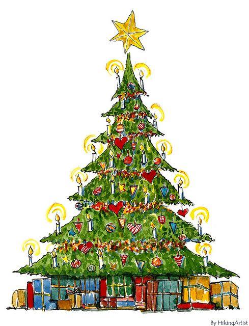 Christmas Tree 04 Ink Christmas Tree Decorations Christmas Tree Christmas Crossword