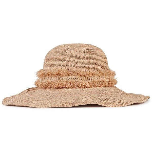 Helen Kaminski Palm Desert Beach Raffia Sunhat (1,155 SAR) ❤ liked on Polyvore featuring accessories, hats, beach hat, beach sun hat, raffia hat, helen kaminski and raffia sun hat