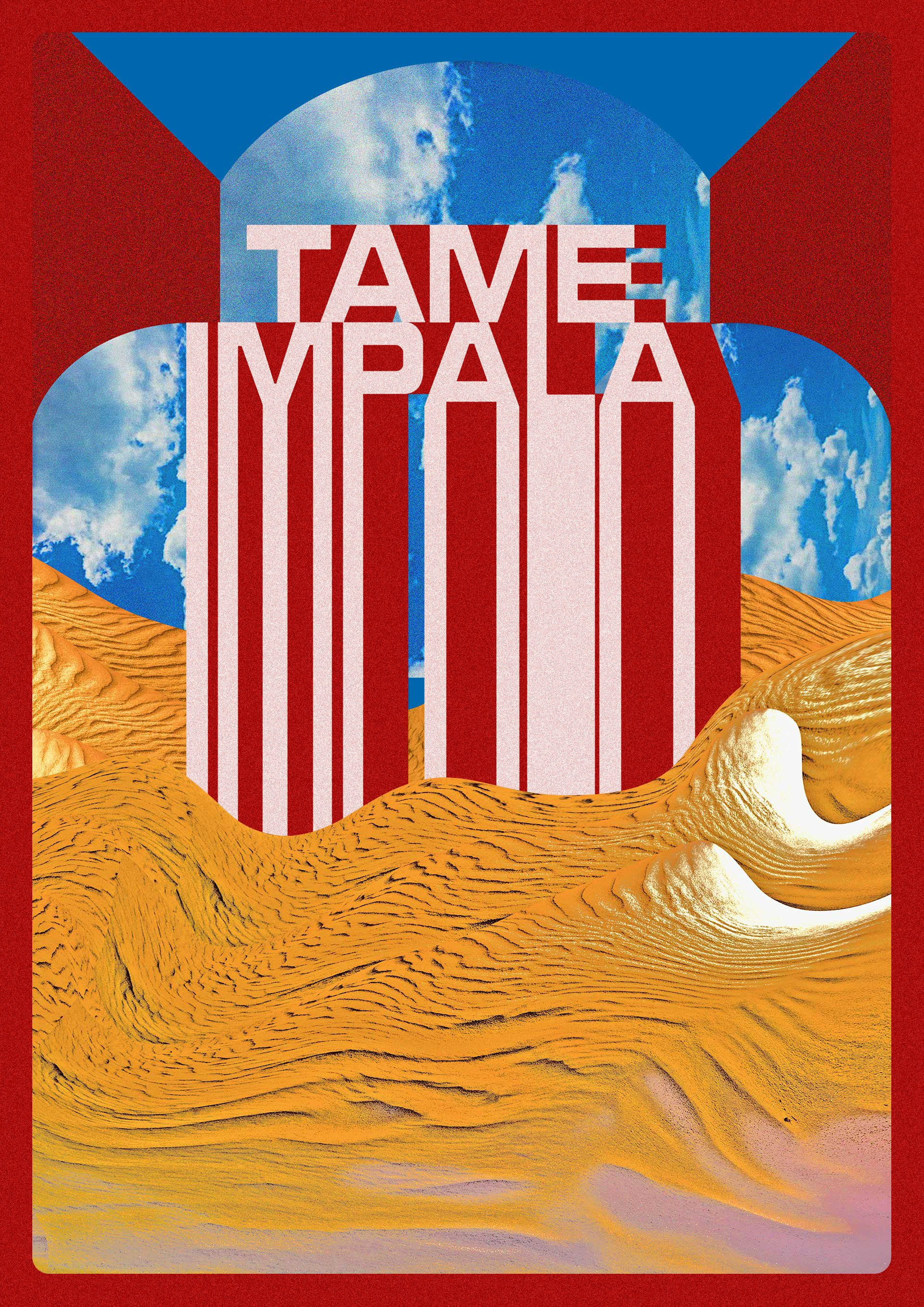Concert Poster Design By Adam Hager On Tame Impala In 2020 Music Album Art Cool Album Covers