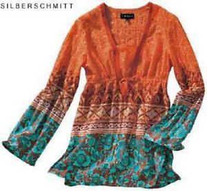 100% authentic 6e2c7 d2d06 Hippie Tunika Bluse Trompetenärmel Crash Gr. 38 NEU | Bohém ...