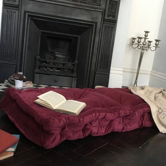 Velvet Floor Cushion Mattress Tufted Futon Knotting Pillow Quilt French Pet