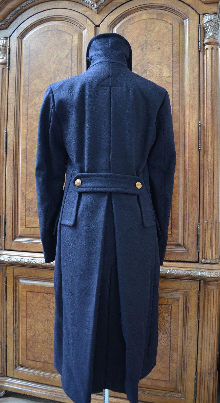 391bc15eac51 Ralph Lauren RRL Double RL Men s Navy Military Wool Long Coat Pea Coat  Jacket S