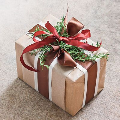 """Rich with Christmas legend, rosemary is the herb of love and rememberance. Tuck a handful of fresh sprigs beneath the ribbon just before delivering packages."" #holiday #gift"
