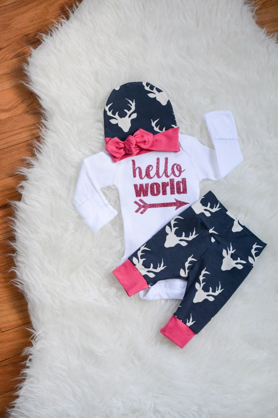 Go Hello World: Baby Girl Going Home Outfit Fall