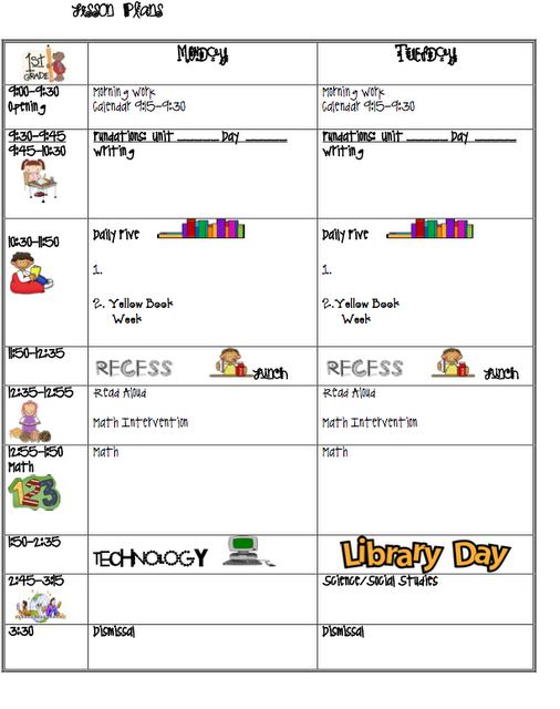 Free Lesson Plan Templates Follow For Free Too Neat Not To