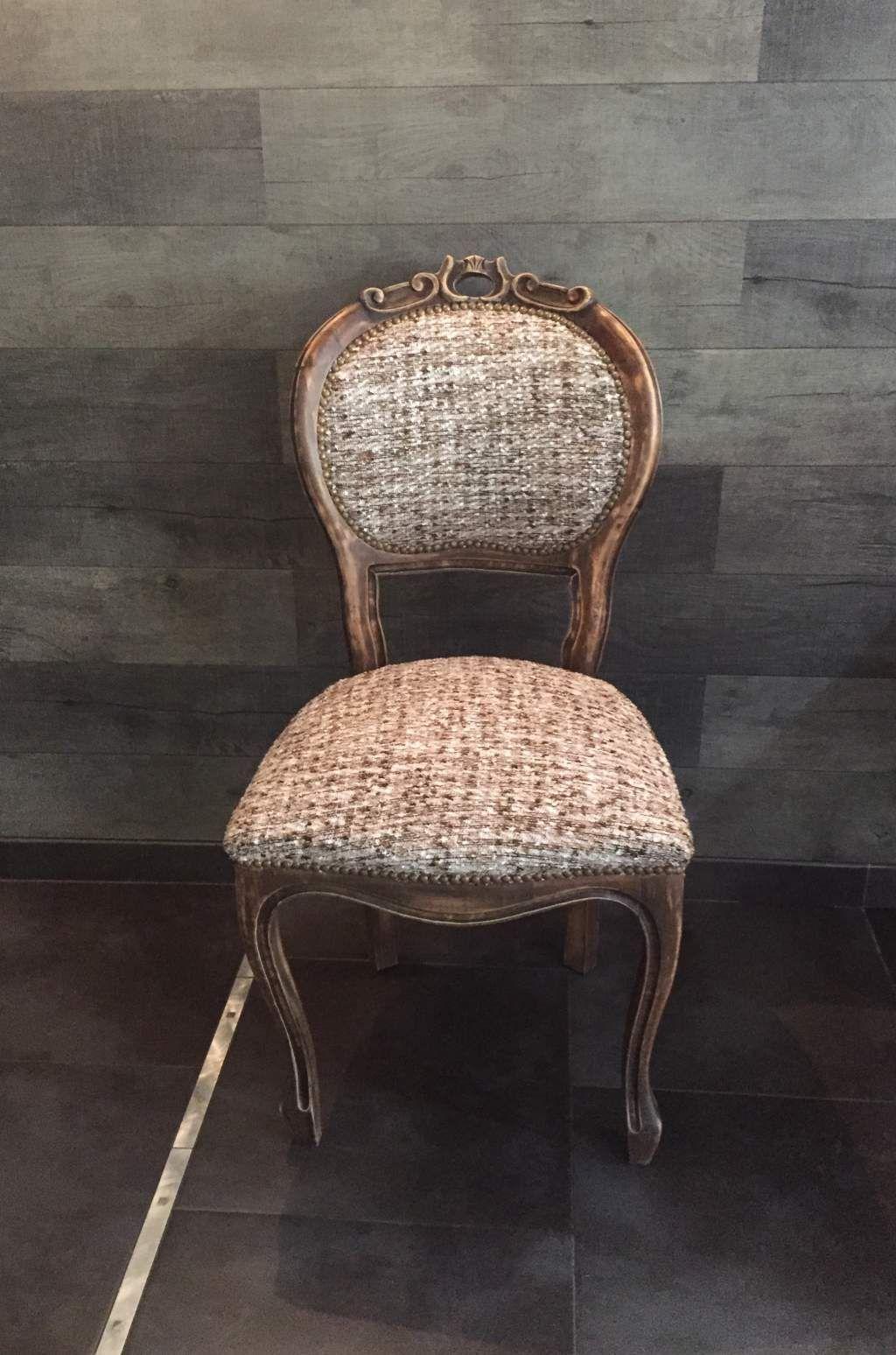 Renover Une Chaise Medaillon chaise médaillon d'époque et véritable tweed de haute