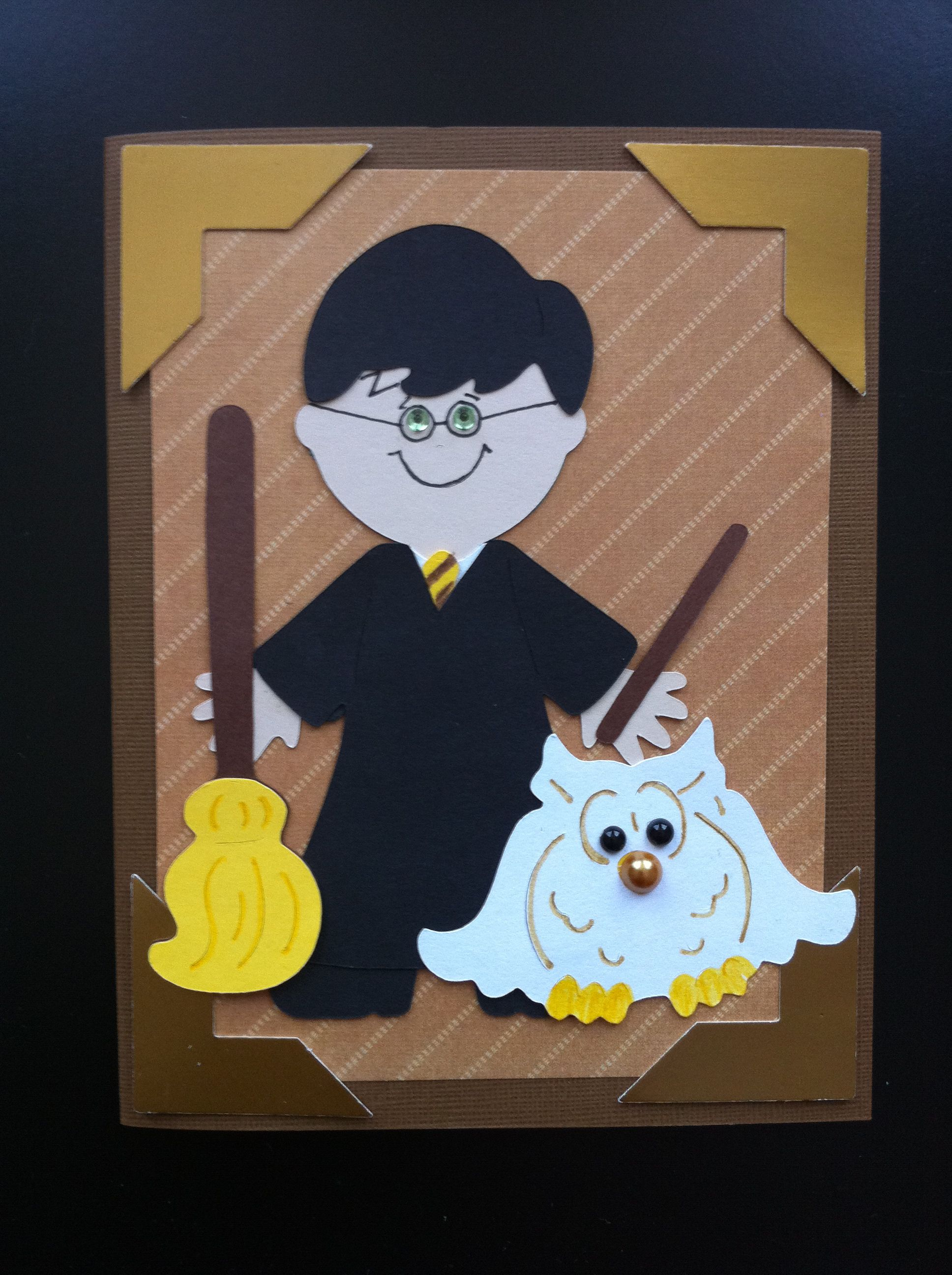 Harry Potter Card Done With Cricut Dress Up Paper Dolls